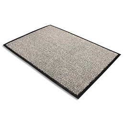 Tapis d'accueil Floortex Advantagemat en polypropylène - 90 x 150 cm - trafic modéré - gris (photo)