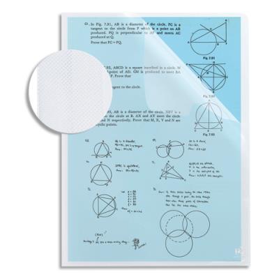 Sachet de 10 pochettes coins STUDENT - polypropylène 12/100ème - A4 - incolore