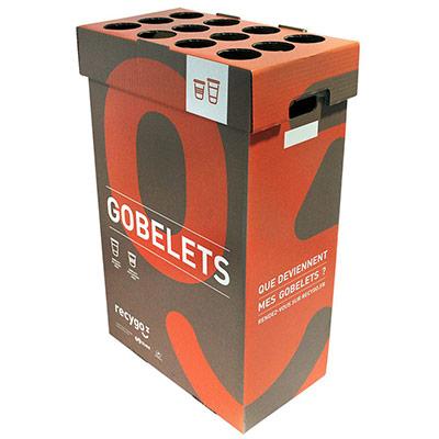 Boîte de collecte Ecobox pour le tri et recyclage des gobelets (photo)