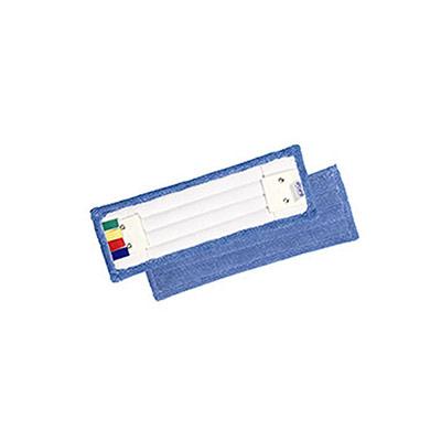 Frange de rechange Econet en microfibre pour système de lavageà plat à languettes - 40 cm - bleu (photo)