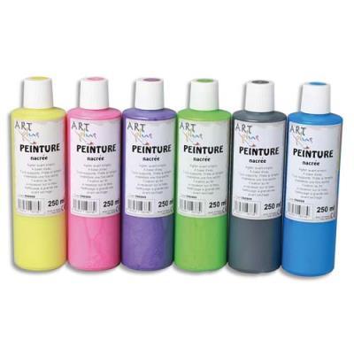 Coffret de 5 flacons de  250ml de peinture nacrée (photo)