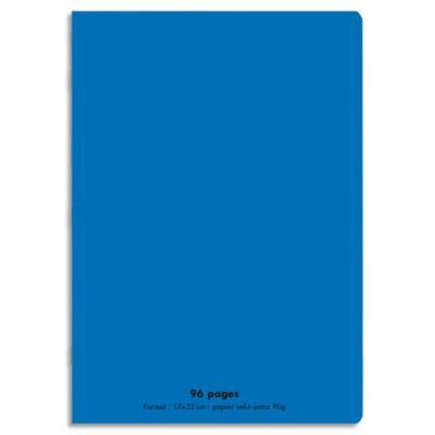 Cahier éco - piqué - couverture polypro - 96 pages - 17x22 cm - 90g - grands carreaux - bleu