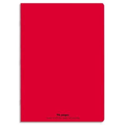 Cahier éco - piqué - couverture polypro - 96 pages - 21x29,7 cm - grands carreaux - rouge