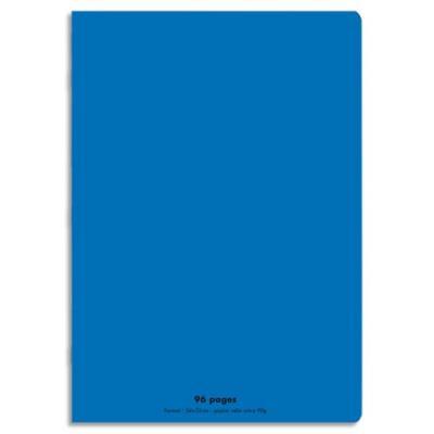 Cahier éco - piqué - couverture polypro - 96 pages - 24x32 cm - grands carreaux - bleu