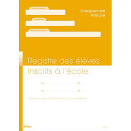 Registre matricule Ecole (photo)