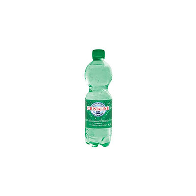 Eau de source naturelle gazeuse Cristaline - bouteille 50 cl - carton 24 x 500 millilitres (photo)