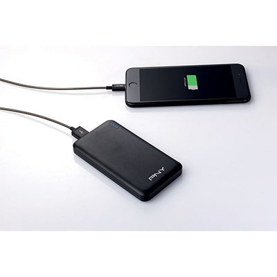 Power pack Slim 5000 Batterie externe /chargeur de téléphone portable 5000 mAh - 2 ports USB - noir (photo)