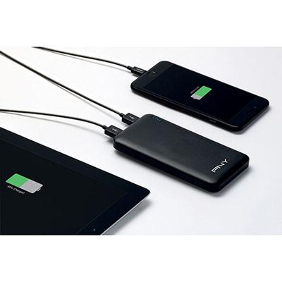 Power pack Slim 10000 Batterie externe /chargeur de téléphone portable 10000 mAh - 2 ports USB - noir (photo)