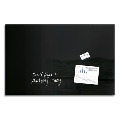 Tableau en verre magnétique Artverum - 100 x 65 cm - noir