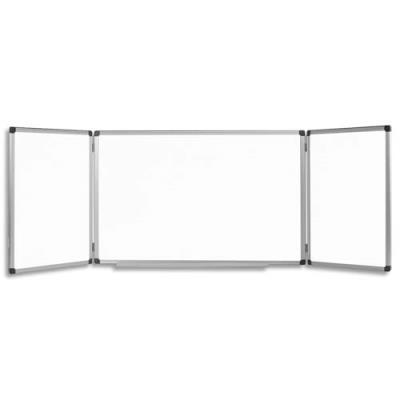 tableau blanc triptyque magn tique laqu 90 x 240 cm ouvert achat pas cher. Black Bedroom Furniture Sets. Home Design Ideas