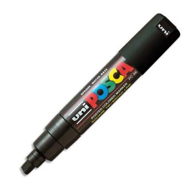Marqueur peinture à l'eau Posca PC-8K - pointe biseautée acrylique large 8 mm - noir