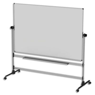 Tableau blanc émaillé mobile double face Bi-Office - 120 x 90 cm