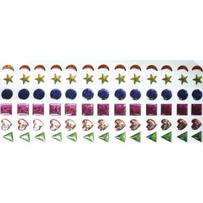 Sachet de 78 strass autocollantes (photo)