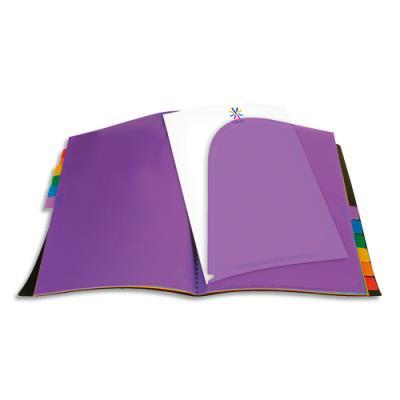 Protège-documents Rainbow A4 - 12 onglets de couleur - coloris noir