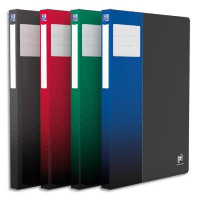 Protège documents STAND UP - A4 - 80 vues - 40 pochettes - coloris noir - coloris étiquette assortis