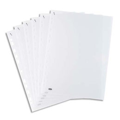 Boite de 100 pochettes perforées QUICK'IN en polypro 7,5/100ème - format A4 incolore (photo)