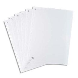Boite de 500 pochettes perforées QUICK'IN en polypro 7,5/100ème - format A4 incolore (photo)