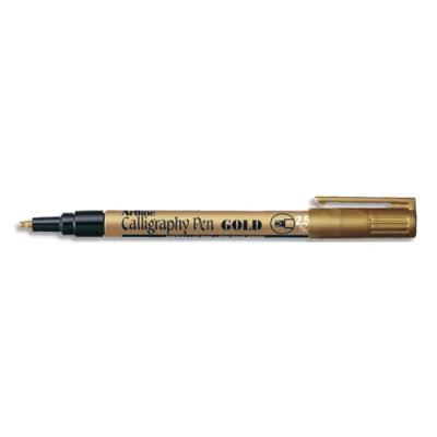 Stylo calligraphie Sign - pointe fibre biseautée 2,5 mm - or