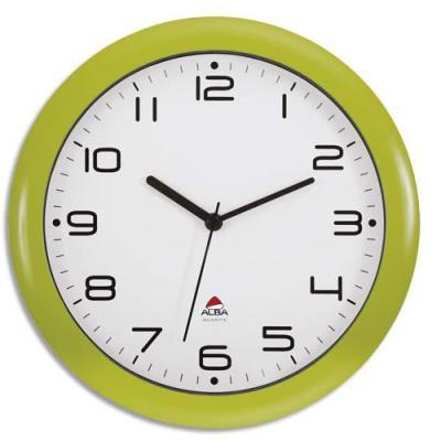Horloge murale à mouvement quartz Hornew diamètre 30 cm - vert (photo)