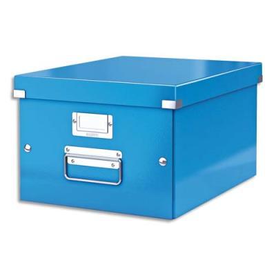 Boîte Leitz Click & Store Taille M - format A4 - capacité 17L - bleu