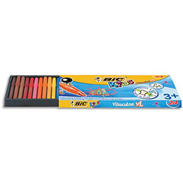 Pochette 24 feutres de coloriage Bic Visacolor - pointe extra-large (photo)