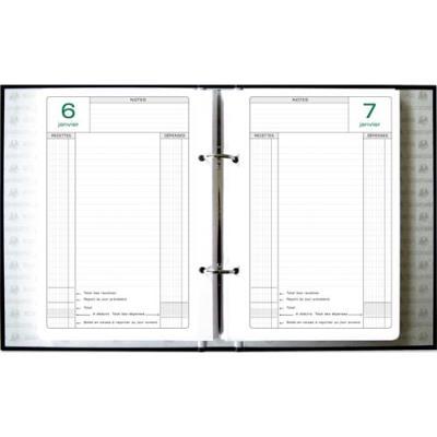 Recharge pour agenda de caisse perpetuel Exacompta format 16 x 24 cm (photo)