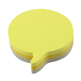 Cube Post-it forme bulle - bloc de 225 feuilles - 3 couleurs (photo)