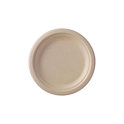 Ecoecho dîner assiette recyclable écru 50 x 22 cm - paquet 50 unités (photo)
