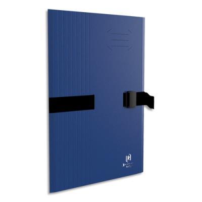 Chemise à sangle Clip'n Go - carte forte 5/10e - format 24 x 32 cm - bleu