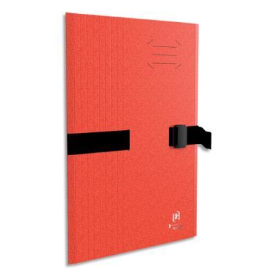 Chemise à sangle Clip'n Go - carte forte 5/10e - format 24 x 32 cm - rouge