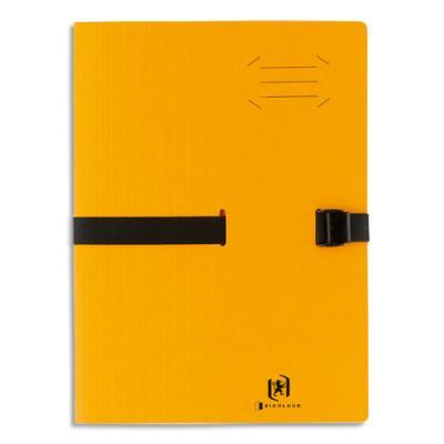 Chemise à sangle Clip'n Go - carte forte 5/10e - format 24 x 32 cm - jaune