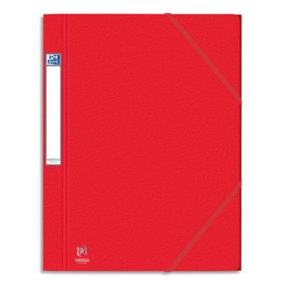 Chemises 3 rabats à élastiques Eurofolio Prestige - carte grainée 7/10ème - format 24 x 32 cm - rouge