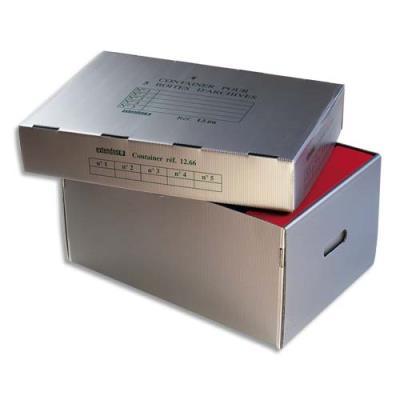 Conteneur à archives Extendos - polypropylène alvéolaire - ouverture sur le dessus - 54 x 27 x 38,5 cm