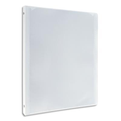 Classeur personnalisable 1 face Elba Polyvision - 4 anneaux ronds 15 mm - dos 2 cm - A4 - blanc