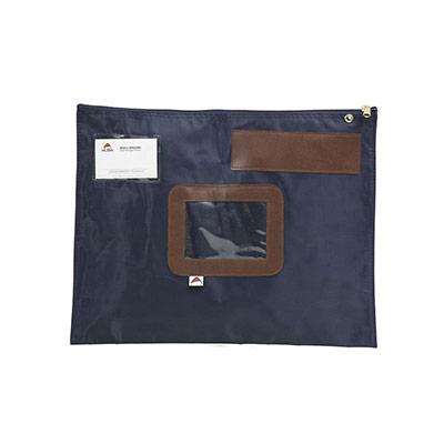 Pochette navette plate Alba - format 32x42 cm - bleu (photo)