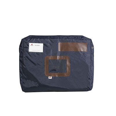 Pochette navette Alba - format 32 x 42 cm x dos large 5 cm - bleu (photo)