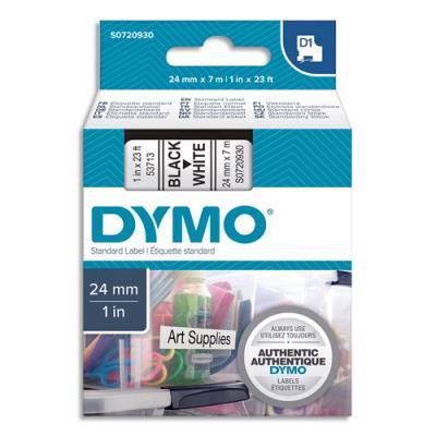 Dymo D1 - Ruban noir/blanc - 24 mm x 7 m (photo)