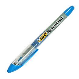 Surligneur Bic Technolight - pointe fine biseautée - bleu