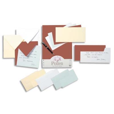 Enveloppe carrée Pollen de Clairefontaine - 120 g - format 165 x 165 mm - blanc - paquet de 20 (photo)