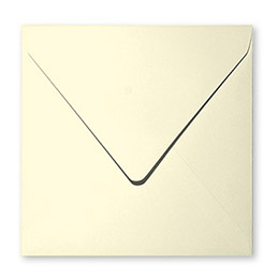 Enveloppe carrée Pollen - 120 g - format 165 x 165 mm - paquet de 20 - coloris ivoire (photo)