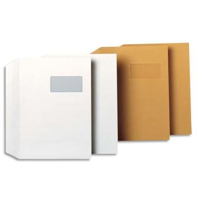 Enveloppe vélin blanc GPV - format 229 x 324 mm - fenêtre 50 x 100 mm - auto-adhésives - 100 g - boite de 250 (photo)