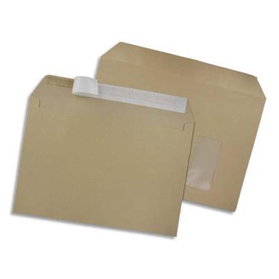 Enveloppe en kraft brun GPV - format 229 x 324 mm - fenêtre - auto-adhésive - 90 g - boite de 250