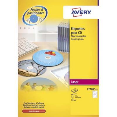 Etiquettes qualité L7676 - mate - spécial laser - pour DVD / CDROM - boîte de 50