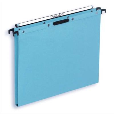 Dossiers suspendus en kraft bleu L'Oblique AZX - pour tiroir - fnd 15 mm - attache velcro - paquet de 25