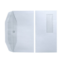 Enveloppes 115x225 - fenêtre 35x100 - blanches - pour mise sous pli automatique - gommées - 80 g - boîte de 1000 (photo)