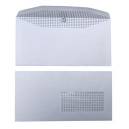 Enveloppes 115x225 - fenêtre 45x100 - blanches - pour mise sous pli automatique - gommées - 80 g - boîte de 1000 (photo)