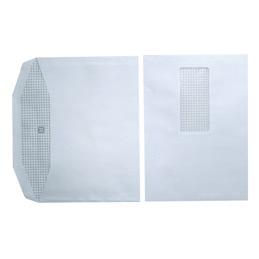 Enveloppes 162x229 - fenêtre 45x100 - blanches - pour mise sous pli automatique - gommées - 80 g - boîte de 1000 (photo)
