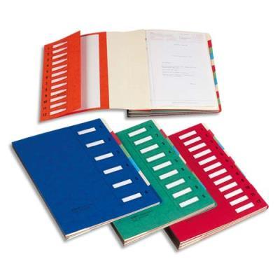 Trieur Clip Junior 12 compartiments Emey - coloris rouge