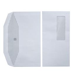 Enveloppes 114x229 - fenêtre 35x100 - blanches - pour mise sous pli automatique - gommées - 80 g - boîte de 1000 (photo)