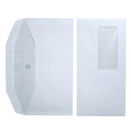 Enveloppes 114x229 - fenêtre 45x100 - blanches - pour mise sous pli automatique - gommées - 80 g - boîte de 1000 (photo)